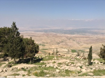 Blick von Mount Nebo ins Jordantal