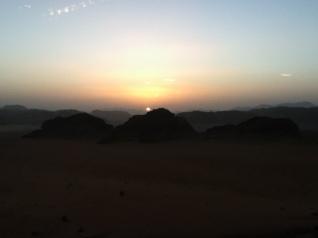 Sonnenuntergang in Wadi Rum