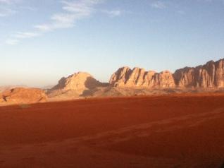 Die Wüste in Wadi Rum