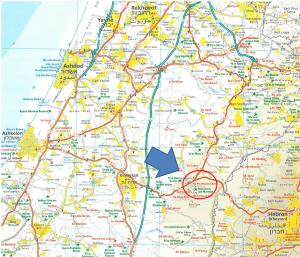 Israel-BetGuvrin-Map