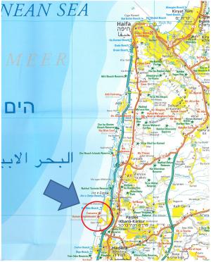 Israel-Caesarea-Map