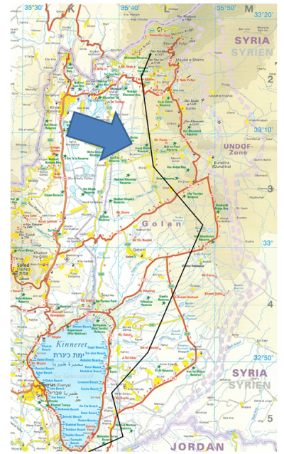 Israel-Golan-Map