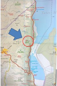 Israel-Masada-Map