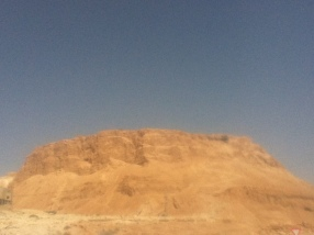 Masada in der Morgensonne