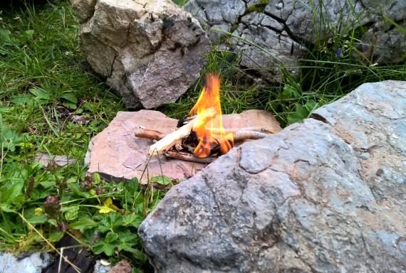 Kleines Lagerfeuer