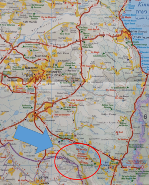 israel-gilboa-map