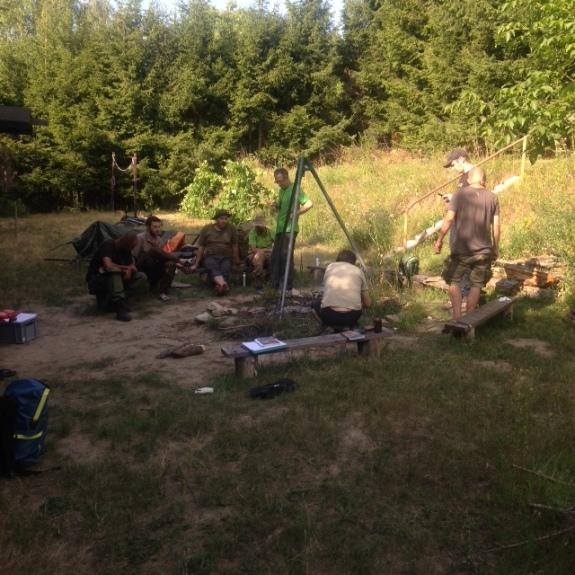 Unser Lager mit Feuerstelle