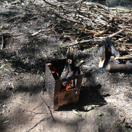 Feuer in der Bushbox