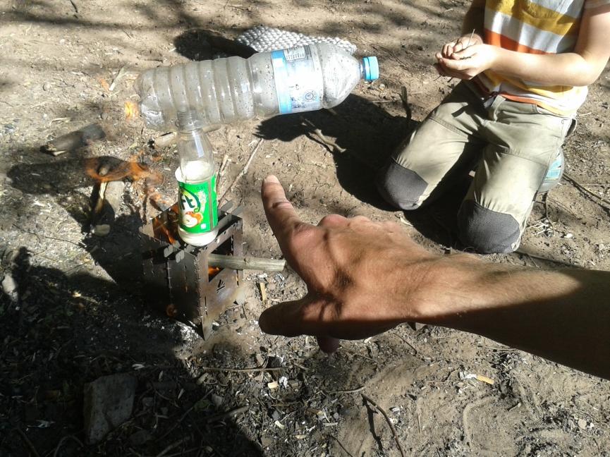 Destille aus PET-Flaschen