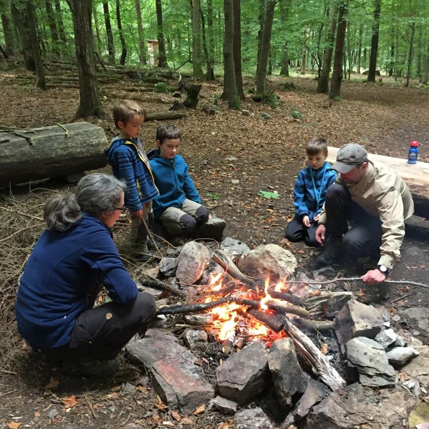 Camp am Feuer